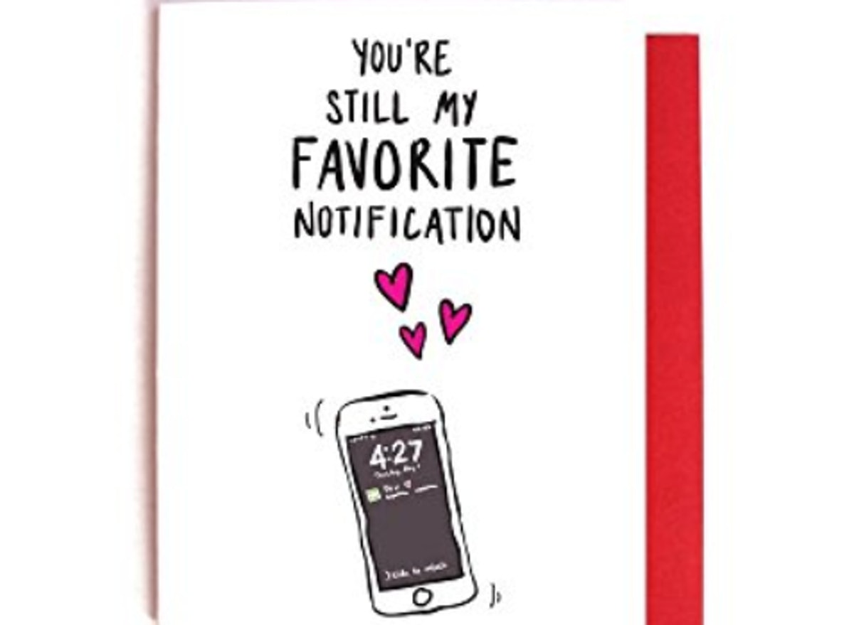 Favorite Notification — Funny Valentine's Day Card
