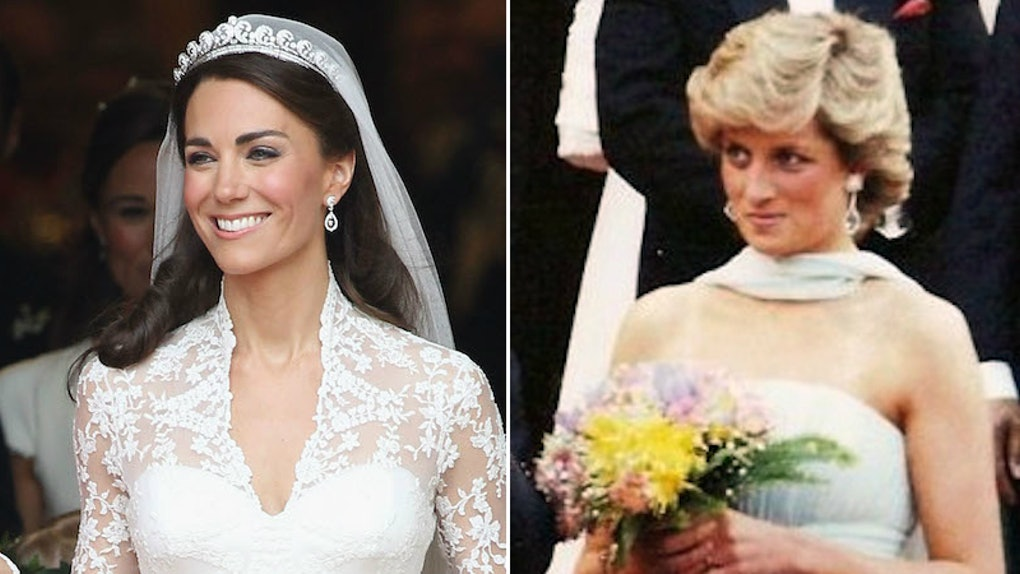 Kate Middleton S Wedding Compared To Princess Diana S Is So So Similar