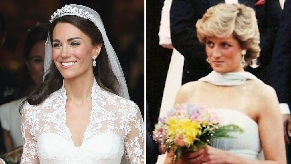 Princess Diana Wedding Ring.Kate Middleton S Wedding Compared To Princess Diana S Is So So Similar