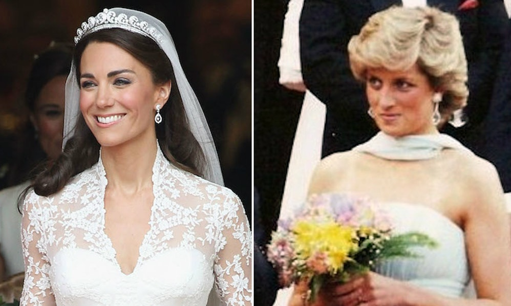 Kate middletons wedding compared to princess dianas is so so similar junglespirit Images