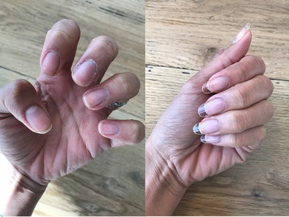 Gel nail extensions are a healthy alternative to acrylic nails that you can shape and paint however you want.