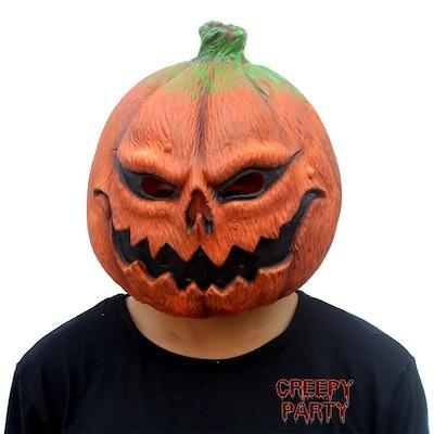 CreepyParty Pumpkin Head Mask