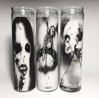 """""""Scary Stories To Tell In The Dark"""" Prayer Candles Trio"""