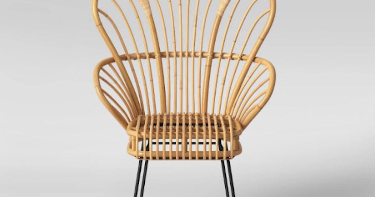 Peachy Avocet Rattan Fan Back Accent Chair Machost Co Dining Chair Design Ideas Machostcouk
