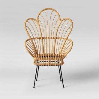 Avocet Rattan Fan Back Accent Chair