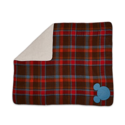 Mickey Mouse Plaid Throw