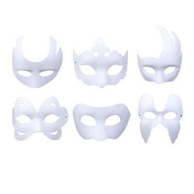 Coxeer White DIY Masks (6-Piece)