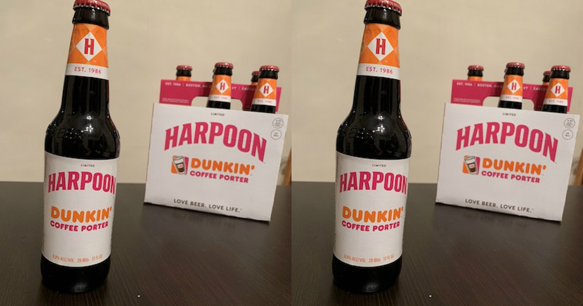 This Harpoon Dunkin Coffee Porter Is The Dunkin Donuts