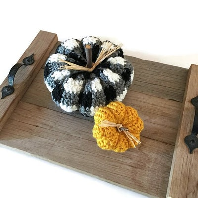 Crochet Plaid Pumpkin