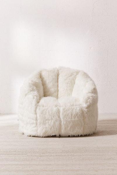 Maggie Faux Fur Shag Chair