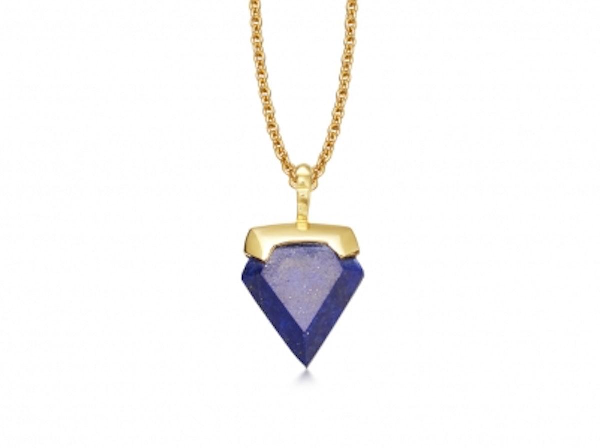 Lapis Mini Shield Necklace