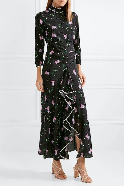 Gabriele Floral Silk Dress