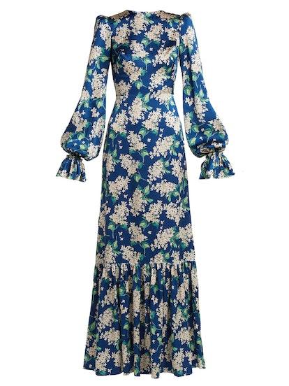 Belle Floral Silk Dress