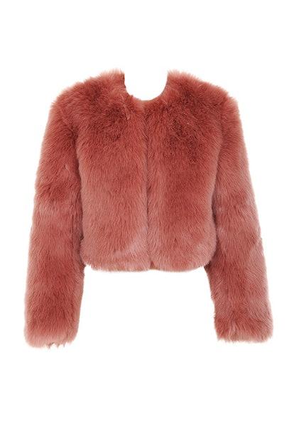 Kenta Cropped Faux Fur Jacket