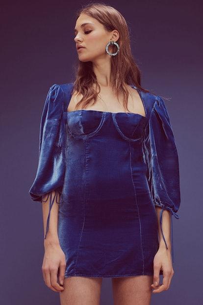Nadine Velvet Bustier Dress