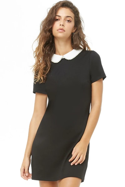 Embellished Peter Pan Collar Dress