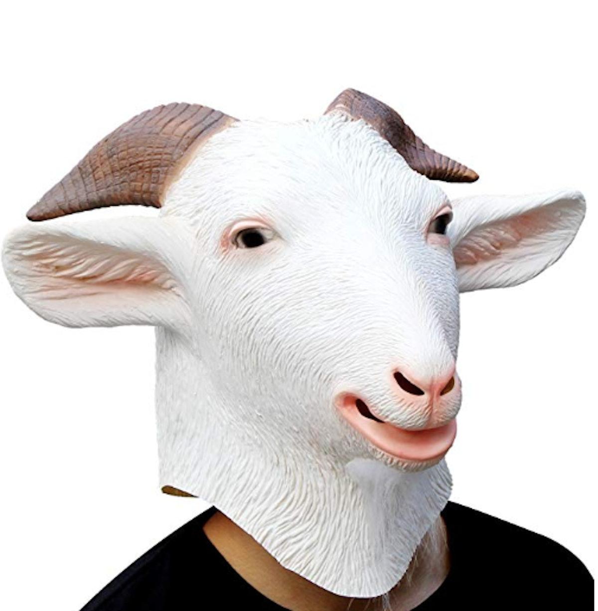 Latex Animal Head Mask Goat