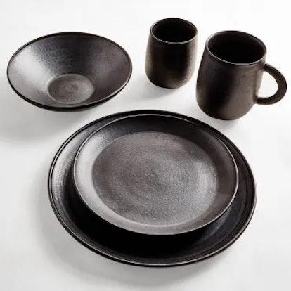ABC Cocina Dark Gray Dinner Plate