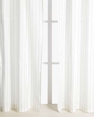 Striped Linen Curtain