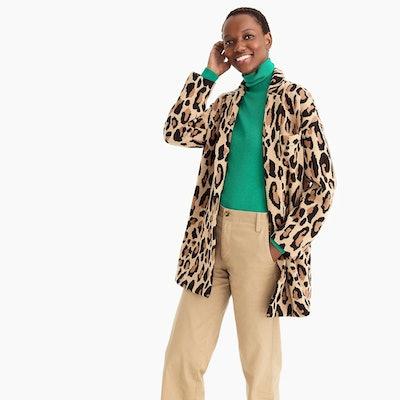 Demylee™ X J.Crew Open-Front Sweater-Blazer In Leopard Print