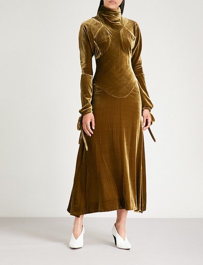 Velvet Pourpoint Dress
