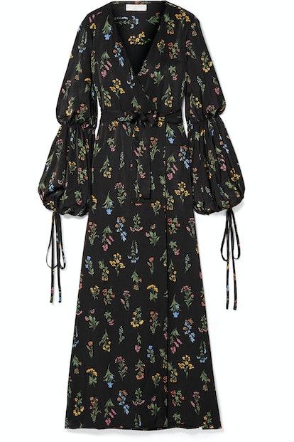 Doria Sateen Floral Dress
