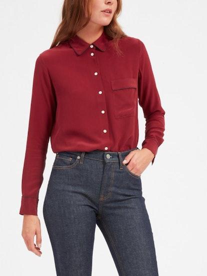 The Piped Silk Pocket Shirt