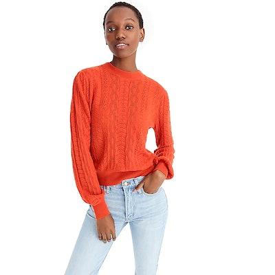 Demylee™ X J.Crew Long-Sleeve Pointelle Sweater