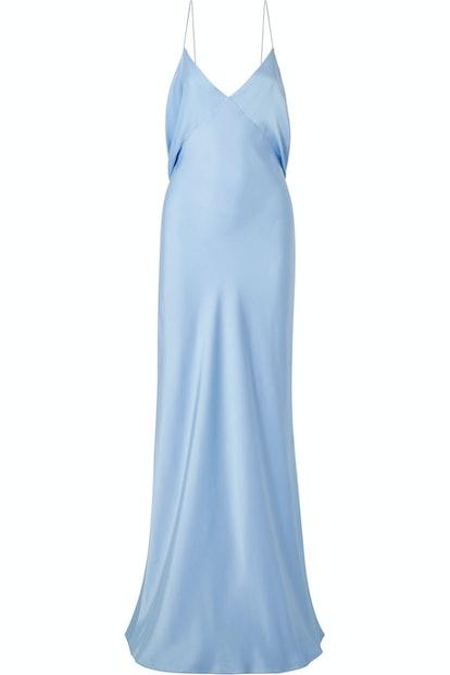 Gran Open-Back Silk Satin Gown