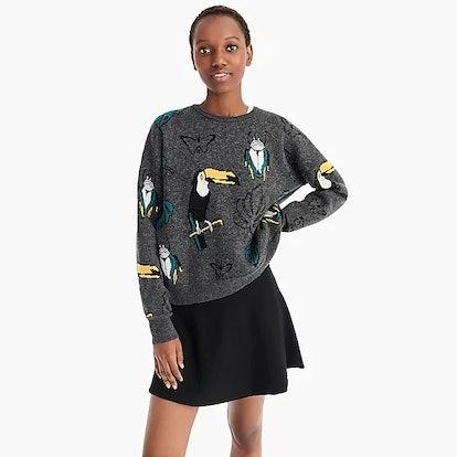 Demylee™ X J.Crew Toucan Pullover Sweater