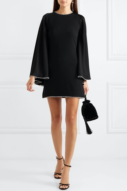 Crystal-Embellished Open-Back Dress