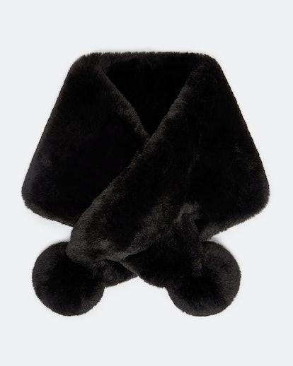 Zalie Faux Fur Pom-Pom Snood
