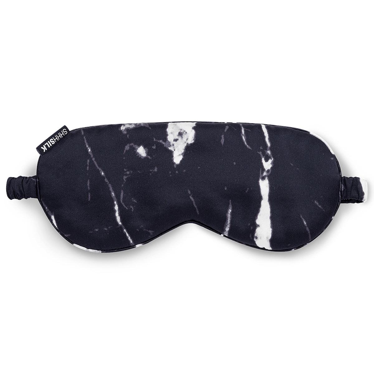 Black Marble Silk Sleep Mask