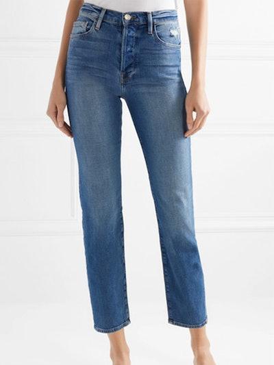Le Original Cropped High-Rise Straight-Leg Jeans