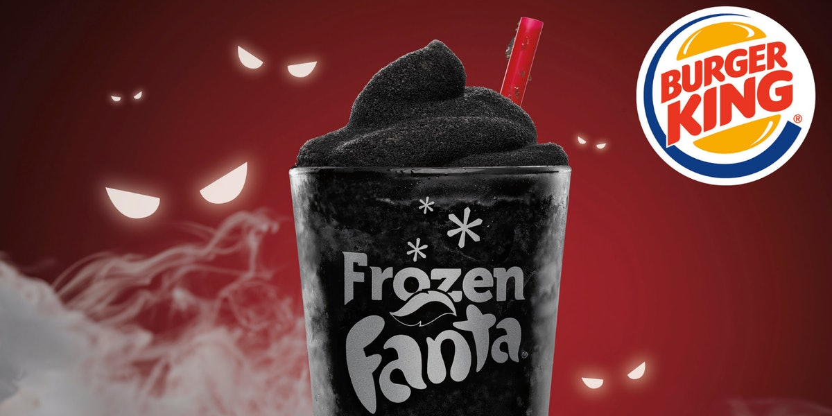 Burger King Is Selling This Cherry-Flavored Black Slushy For A Totally Spooky Sip