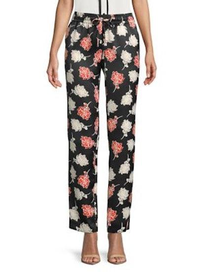 Floral Straight Leg Pants