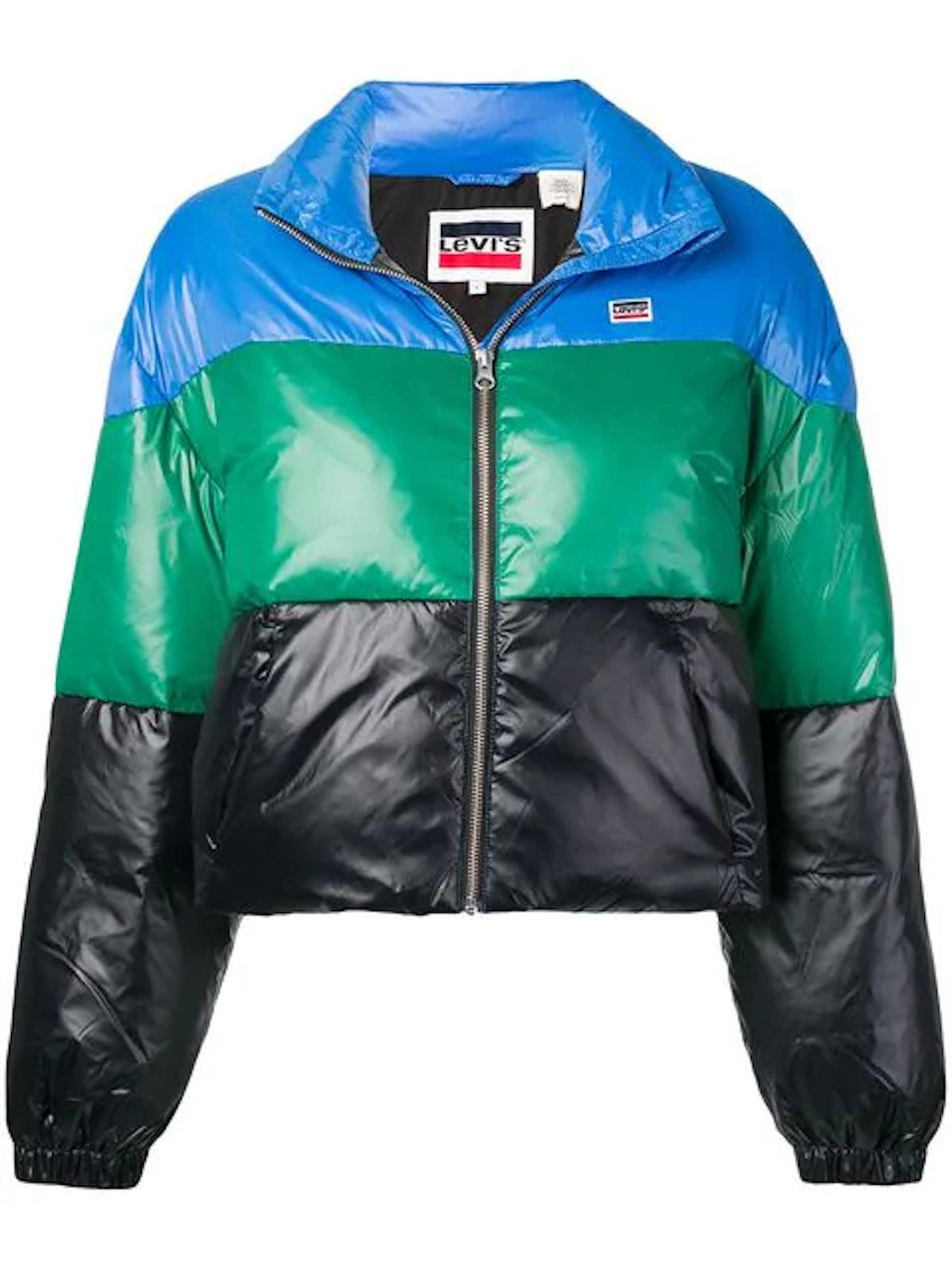 LEVI'S colour-block zipped jacket
