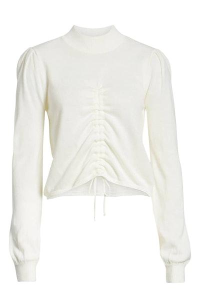 Madison Ruched Sweater (Sizes XS - XL)