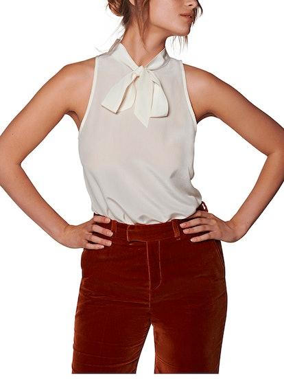 Jane Off White Silk Shirt