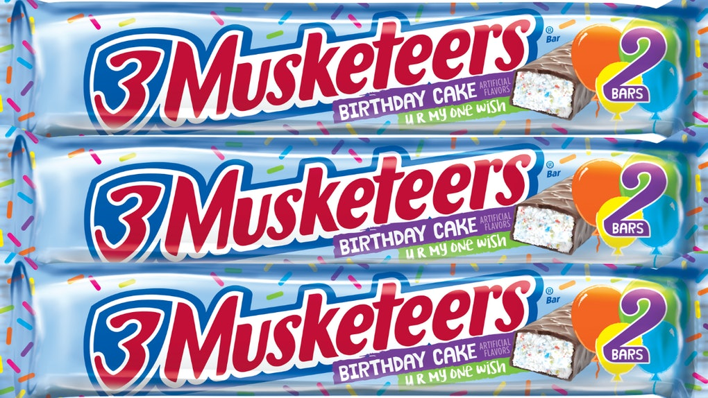 3 Musketeers New Birthday Cake Candy Bar Is A Celebratory Sweet Treat