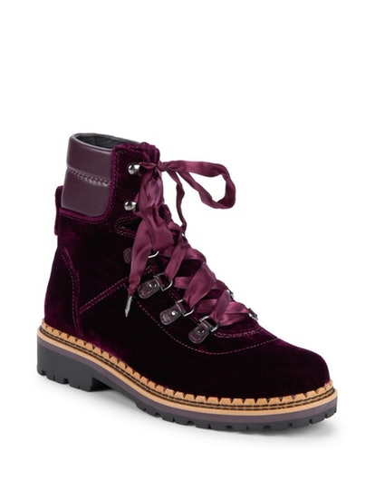Sam Edelman Browan Velvet Combat Boots
