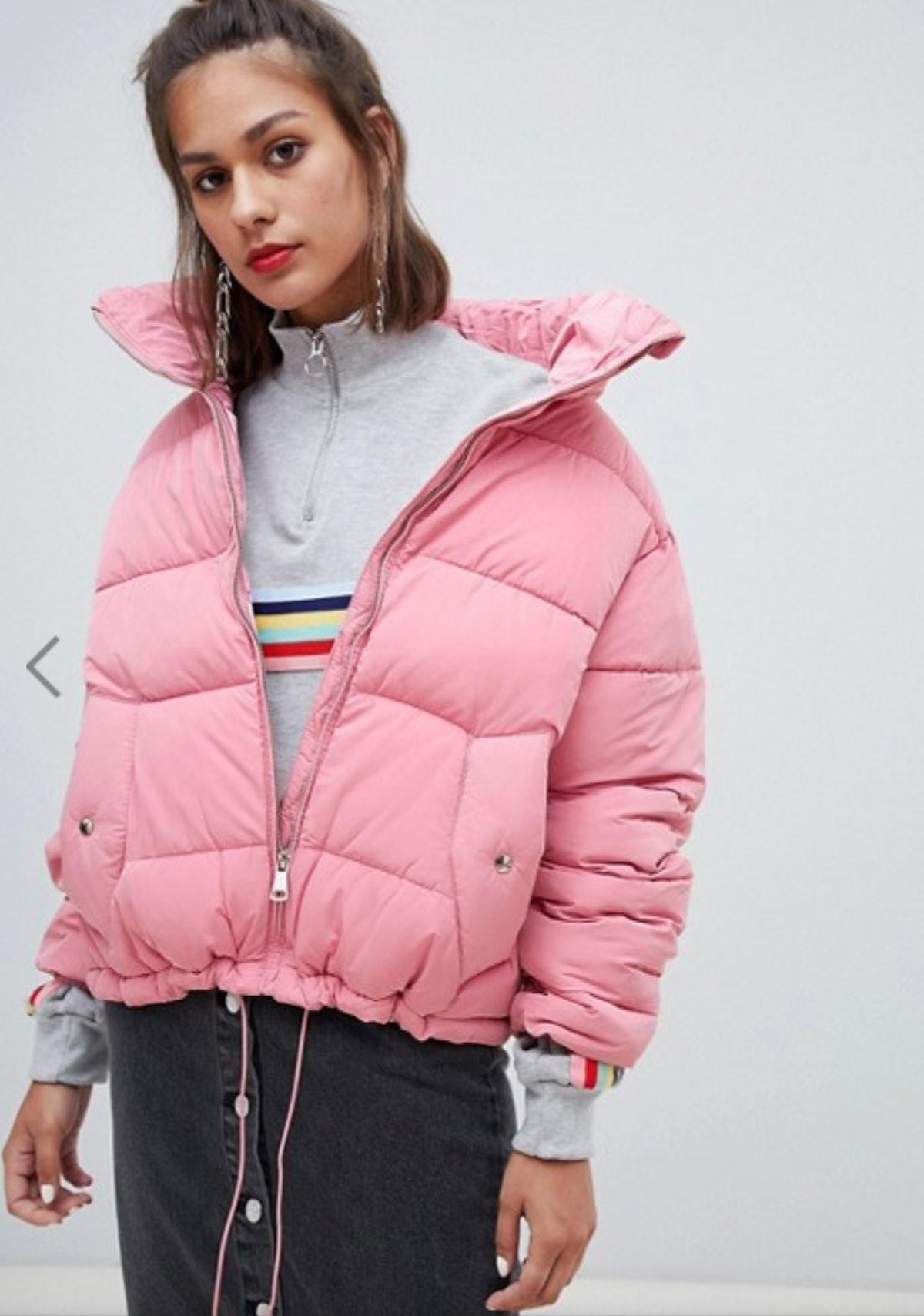 Pull&Bear zip up puffer jacket