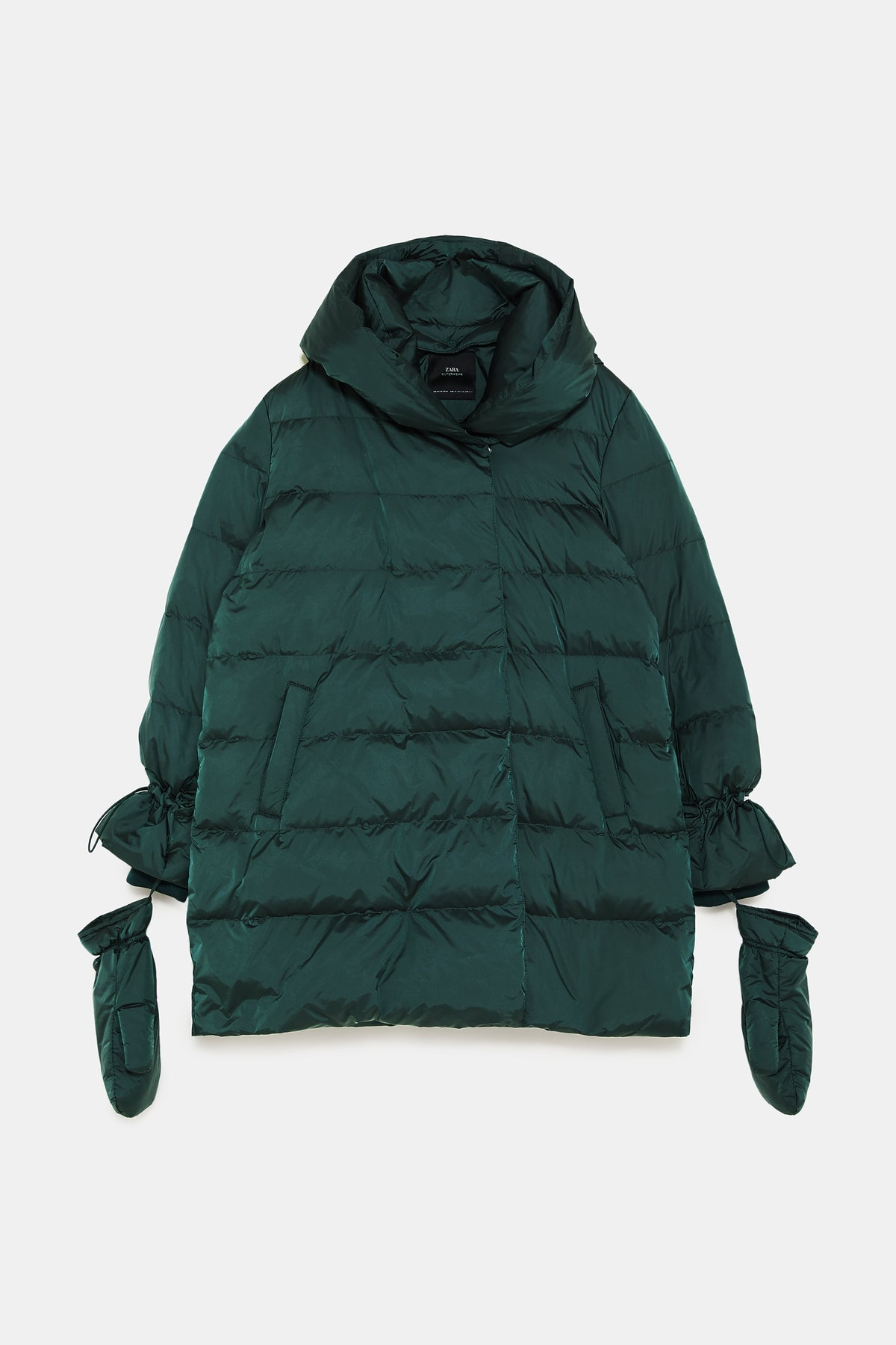 DOWN COAT WITH WRAP COLLAR