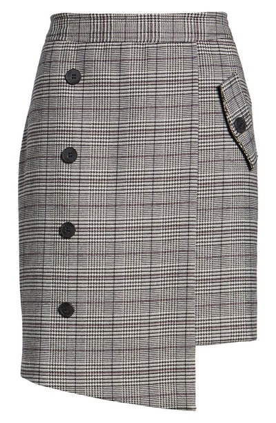 Bianca Houndstooth Button Front Skirt (Sizes XS - XL)