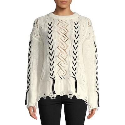 Vero Moda Pristine Aneta Lace-Up Sweater