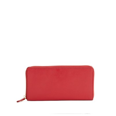Lord & Taylor Leather Zip-Around Wallet