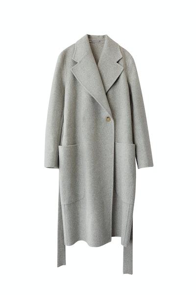 Belted Coat Grey Melange