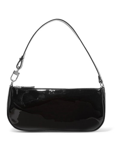 Rachel Patent-Leather Shoulder Bag