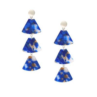 Design Lab Geometric Triple Drop Earrings