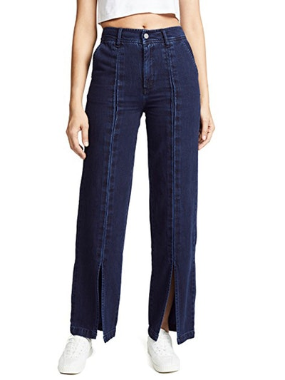 Hight Rise Front Slit Trousers